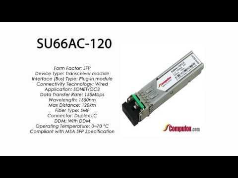 SU66AC-120  |  Marconi Compatible SFP 155Mbps 1550nm 120km DDM