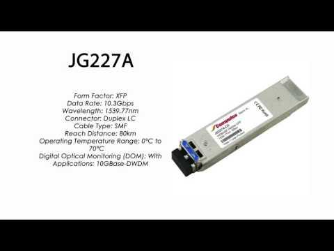 JG227A  |  HP Compatible 10GBase-DWDM XFP 1539.77nm 80km