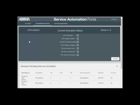 ADTRAN - Services Activation Automation