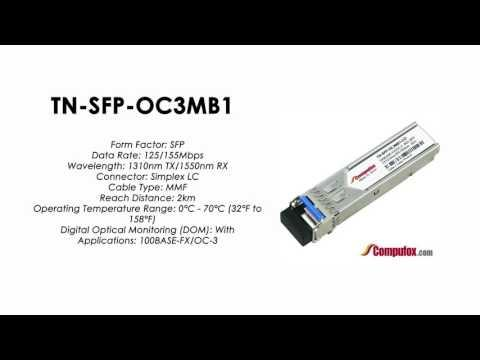 TN-SFP-OC3MB1  (Transition 100% Compatible Optical Transceiver)