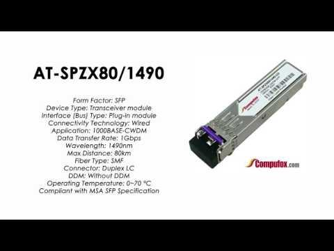 AT-SPZX80/1490  |  Allied Telesis Compatible 1000BASE-CWDM 1490nm 80km SFP