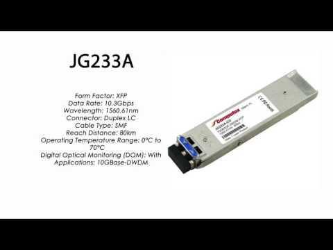 JG233A  |  HP Compatible 10GBase-DWDM XFP 1560.61nm 80km