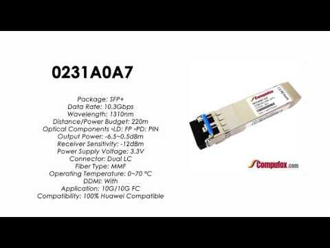 0231A0A7  |  Huawei Compatible SFP+ 10GBASE-LRM 1310nm MMF 2km