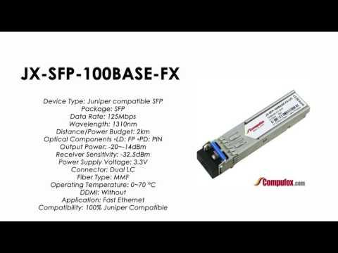 JX-SFP-100BASE-FX    Juniper Compatible 100BASE-FX SFP 1310nm 2km MMF