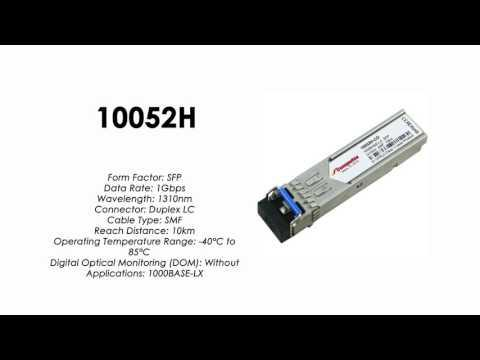 10052H  |  Extreme Networks Compatible 1000BASE-LX SFP 1310nm 10km SMF Industrial