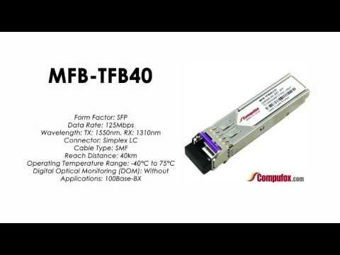 MFB-TFB40  |  Planet Compatible 100Base-BX Tx1550nm/Rx1310nm 40km SFP