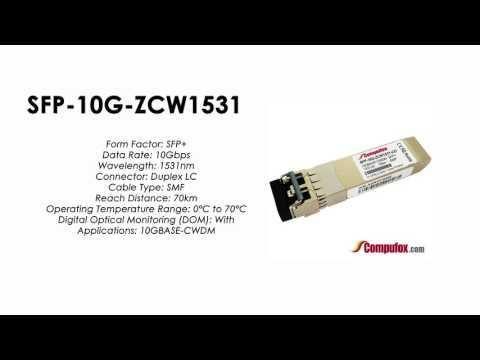 SFP-10G-ZCW1531  |  Huawei Compatible SFP+ 10GBASE-CWDM SMF 1531nm 70km