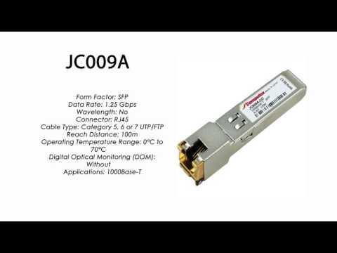 JC009A  |  HP Compatible 1000Base-T SFP RJ45 100m