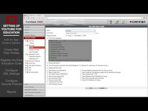 FortiGate Cookbook   YouTube For Education Filter 5 0 01 21