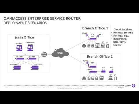 OmniAccess Enterprise Service Routers