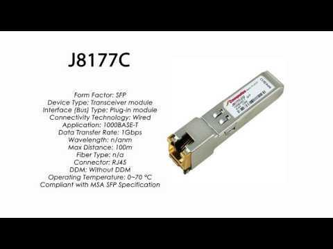 J8177C  |  HP Compatible 1000Base-T SFP RJ45 100m