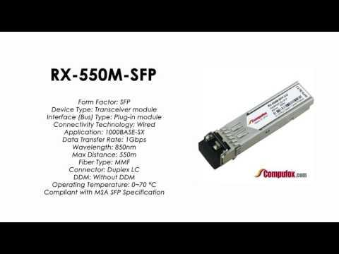 RX-550M-SFP  |  Juniper Compatible 1000Base-SX SFP 850nm 550m