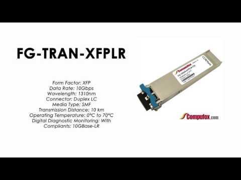 FG-TRAN-XFPLR  |  Fortinet Compatible 10GBASE-LR 1310nm 10km XFP