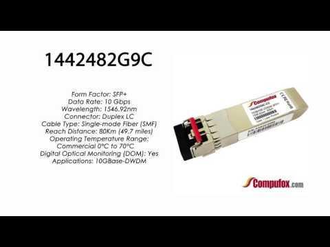 1442482G9C  |  Adtran Compatible 10GBase-DWDM 1546.92nm 80km SFP+