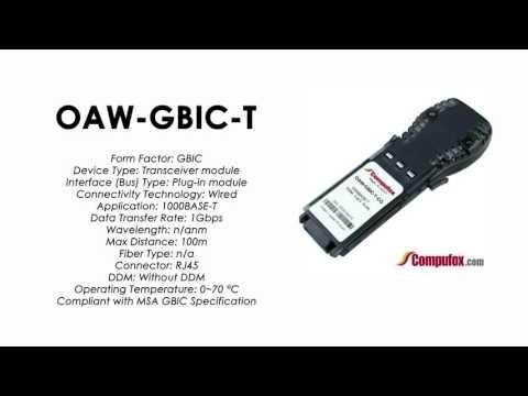 OAW-GBIC-T  |  Alcatel Compatible 1000Base-T RJ45 100m GBIC