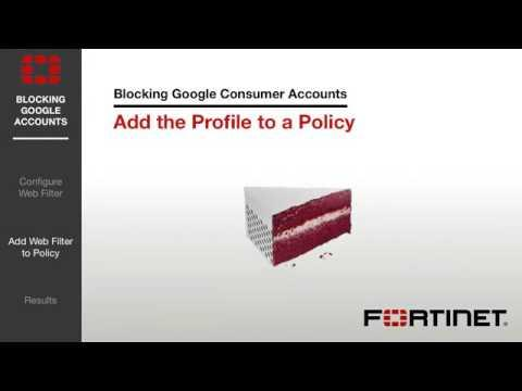 FortiGate Cookbook   Blocking Google Accounts 5 2