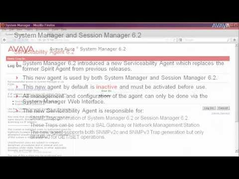 How To Activate The Serviceability Agent For System Manager And Session Manager 6.2