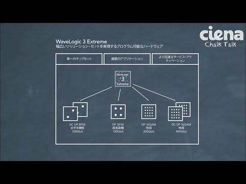 Chalk Talk: Ciena's WaveLogic 3 Extreme Coherent Chipset [Japanese]