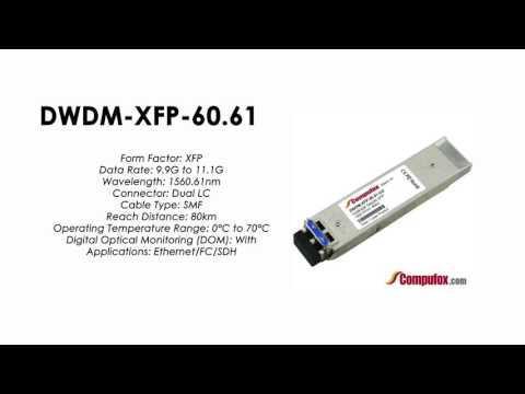 DWDM-XFP-60.61  |  Cisco Compatible 10GBASE-DWDM XFP 1560.61nm 80km