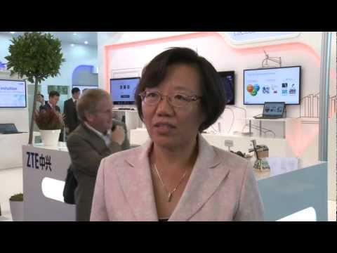 Jane Chen, SVP, ZTE Corporation At 2012 Broadband World Forum