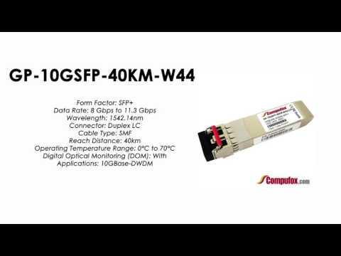 GP-10GSFP-40KM-W44   |  Force10 Compatible 10GBase-DWDM SFP+ 1542.14nm 40km SMF