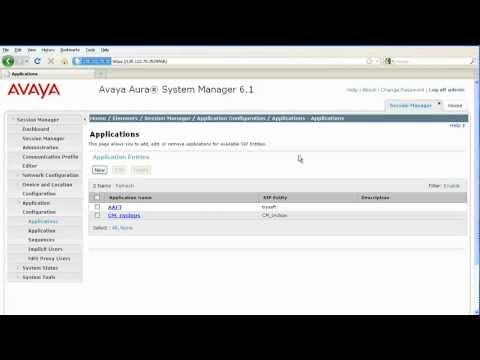 How To Sequence Applications With Users In Avaya Session Manager
