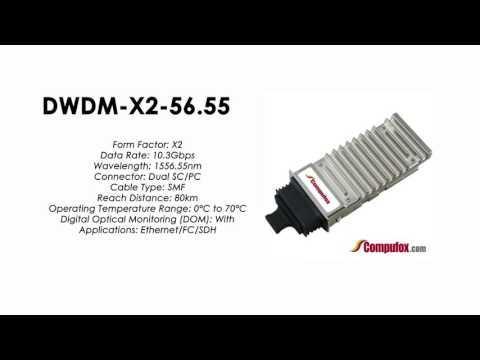 DWDM-X2-56.55  |  Cisco Compatible 10GBASE-DWDM X2 1556.55nm 80km
