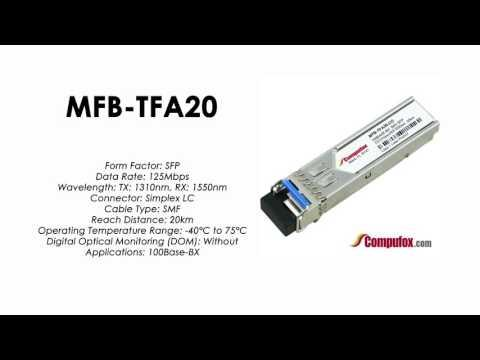 MFB-TFA20  |  Planet Compatible 100Base-BX Tx1310nm/Rx1550nm 20km SFP