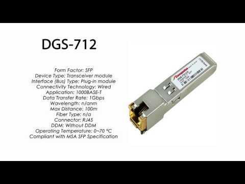 DGS-712 | D-Link Compatible 1000BASE-T SFP RJ45 100m