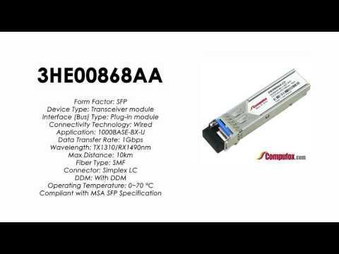 3HE00868AA     Alcatel Compatible 1000Base-BX-U Tx1310nm/Rx1490nm 10km SFP