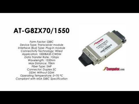 AT-G8ZX70/1550  |  Allied Telesis Compatible 1000Base-CWDM 1550nm 70km GBIC