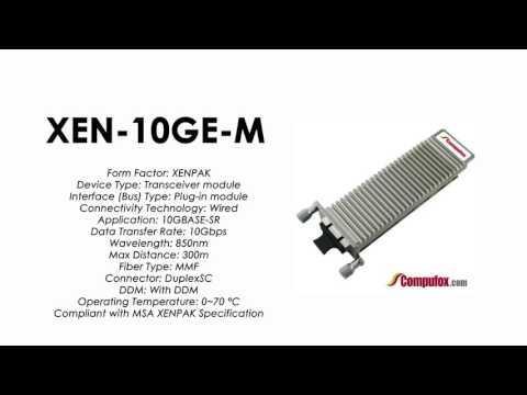 XEN-10GE-M  |  ZTE Compatible 10GBase-SR XENPAK MMF 300m 850nm