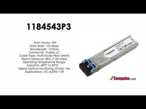 1184543P3  |  Adtran Compatible OC-3/155Mbps 1310nm 2km SFP