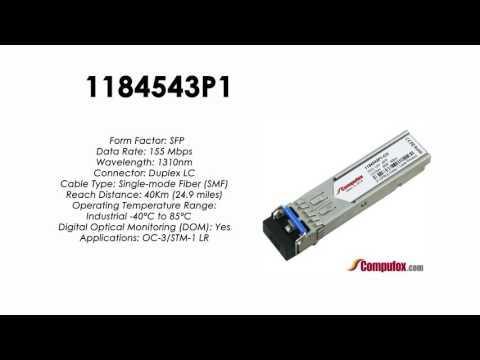 1184543P1  |  Adtran Compatible OC-3/155Mbps 1310nm 40km SFP
