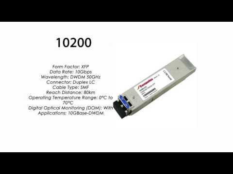 10200  |  Extreme Networks Compatible 10GBASE-DWDM XFP Tunable 80km SMF