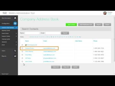 WebEx Site Admin: Add A Company Address Book (WBS30)