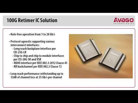Avago 100G Retimer IC Solution Demonstration At OFC 2014