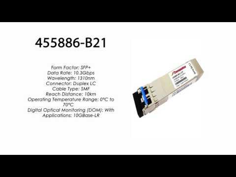 455886-B21  |  HP Compatible 10GBase-LR SFP 1310nm 10km