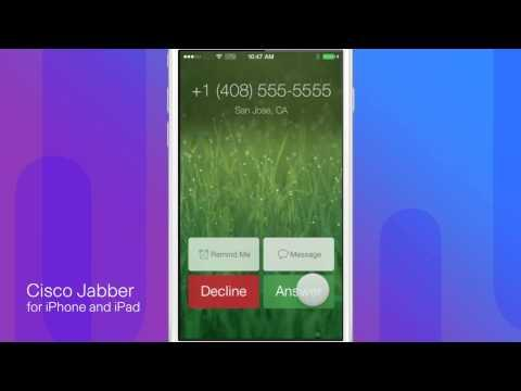 Cisco Jabber For IPhone And IPad 10.6: Voice And Video Calling