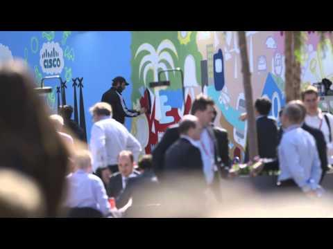 Cisco Wall Art At Mobile World Congress 2015 (#CiscoMWC)