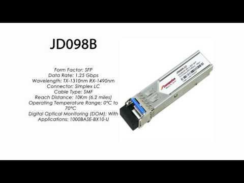 JD098B     HP Compatible 1000Base-BXU Tx1310nm/Rx1490nm 10km