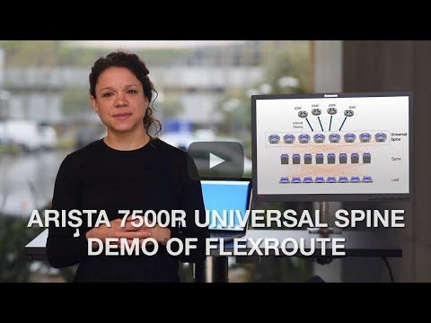 Arista 7500R Universal Spine Demo Of FlexRoute