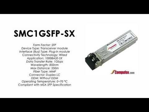 SMC1GSFP-SX  |  SMC Compatible 1000Base-SX 850nm 550m SFP