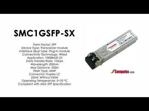 SMC1GSFP-SX     SMC Compatible 1000Base-SX 850nm 550m SFP