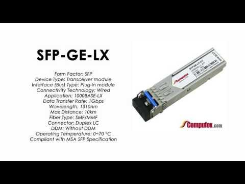 SFP-GE-LX  |  Redback Compatible 1000BASE-LX 1310nm 10km SFP