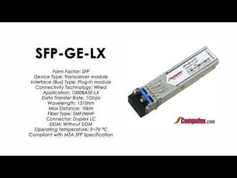 SFP-GE-LX  |  Redback Compatible 1000BASE-LX 1310nm 10km SFP