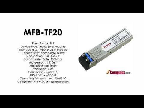 MFB-TF20  |  Planet Compatible 100Base-FX 1310nm 20km SFP