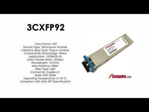 3CXFP92  |  3Com Compatible 10GBASE-LR 1310nm 10km XFP