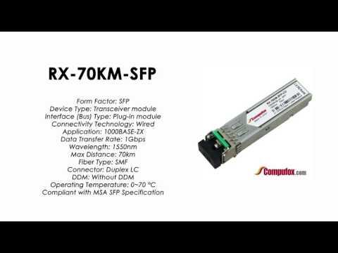 RX-70KM-SFP | Juniper Compatible 1000Base-ZX SFP 1550nm 70km SMF