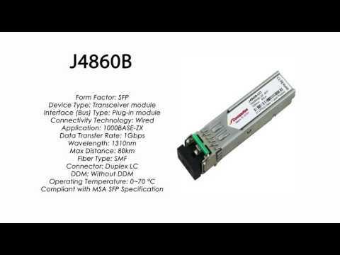 J4860B | HP Compatible 1000Base-ZX 1550nm 80km SMF SFP